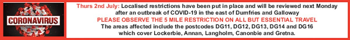 COVID RESTRICTIONS 02/07/20